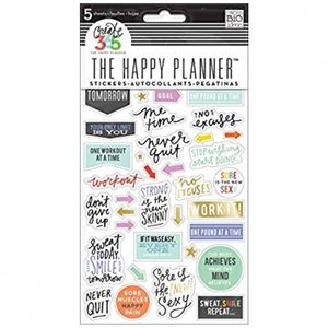 Happy planner workout gym big fun fitness stickers